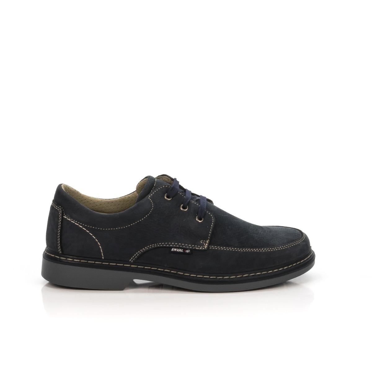 Soft Uomo Enval 12028 Stringata Blu Shoecenter Nabuk Neri Pelle fyvb76gmIY