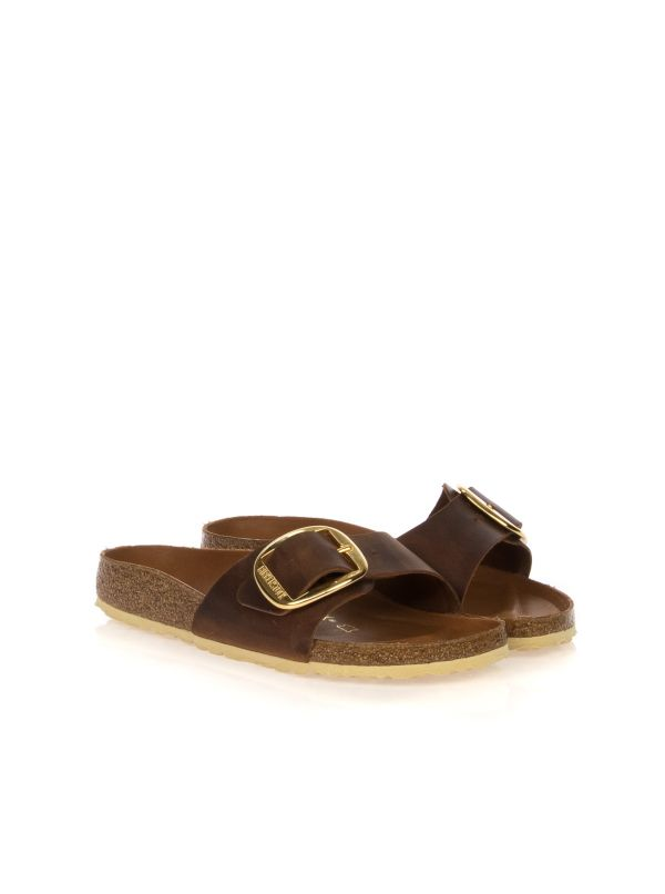 BIRKENSTOCK CIABATTA DONNA MADRID BIG BUCKLE 1006525 CUOIO