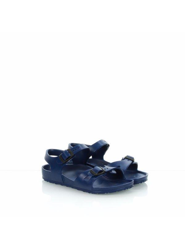 Sandalo da bambino in eva blu BIRKENSTOCK 9b5d7b1939f