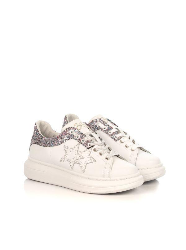 snickers donna  Sneakers donna platform|2STAR 2SD2262 pelle bianca con dettagli ...