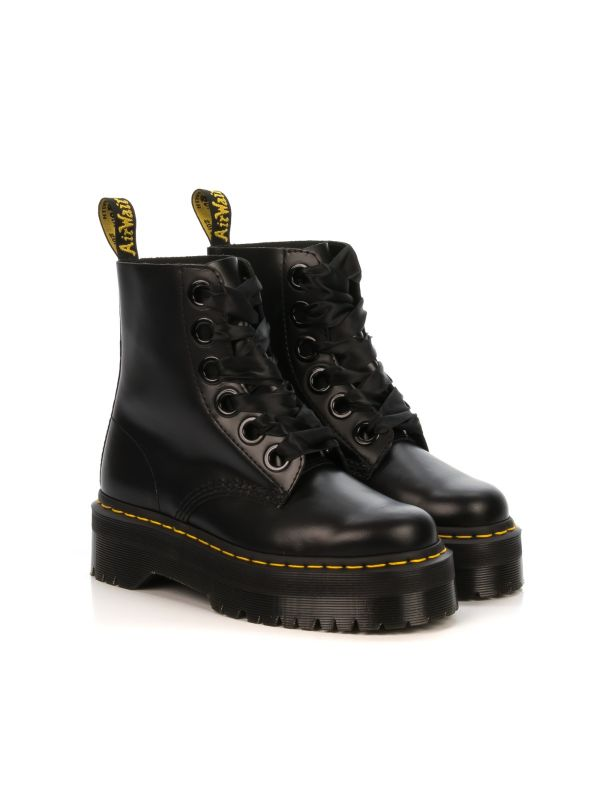 f055eaaaa023d3 Anfibio donna|DR. MARTENS MOLLY in pelle nera con platform|Shop online|Shoe  Center