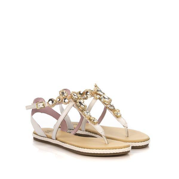 Stonefly sandalo donna 110496 150 bianco pietre gioiello shoecenter beige cinturini
