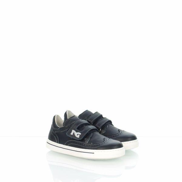 NERO GIARDINI 24120M|sneakers bambino|pelle blu|Spedizione