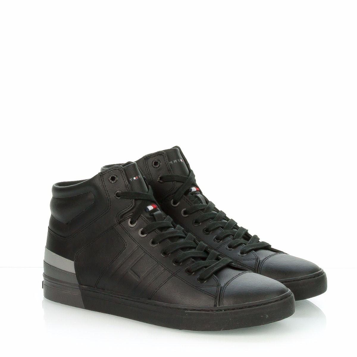 TOMMY HILFIGER JAY|sneakers alta uomo|FM0FM00912 990|pelle