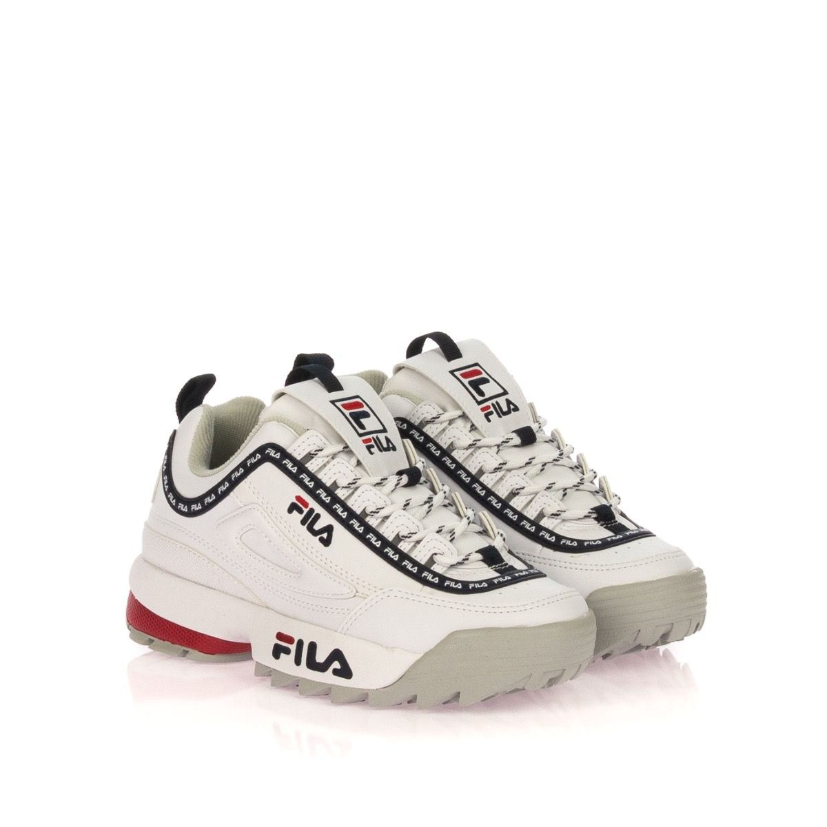 FILA DISRUPTOR LOGO LOW 1010748 SNEAKERS DONNA BIANCO