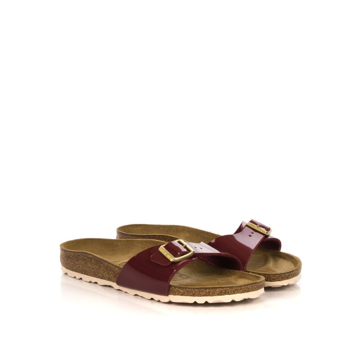 2bf7ec63f9cb9b Ciabatta donna|BIRKENSTOCK 1013082 MADRID vernice bordeaux una fascia|Shop  online|Shoe Center