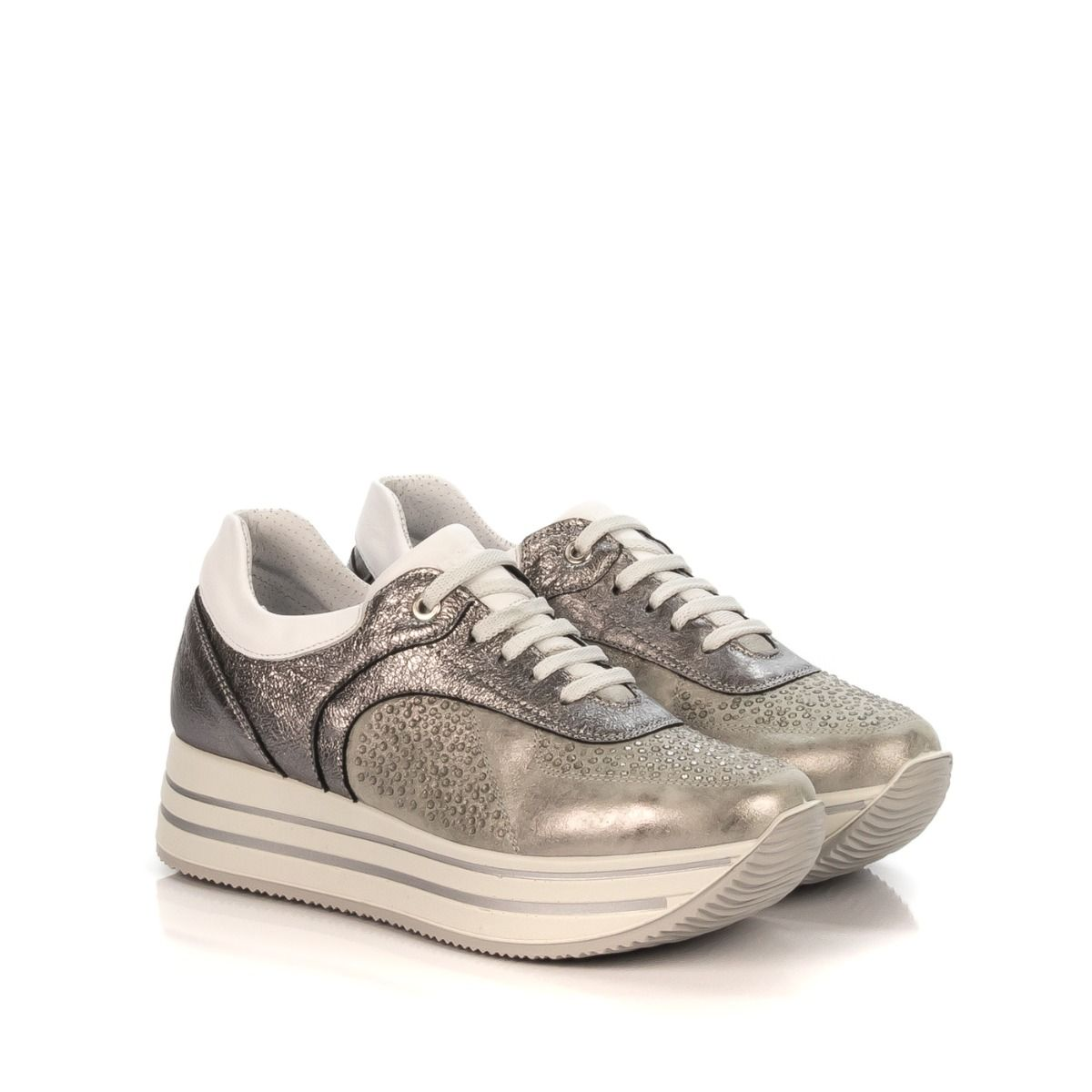 official photos 51e57 08820 IGI&CO SNEAKERS DONNA 11556 00 GRIGIO STRASS