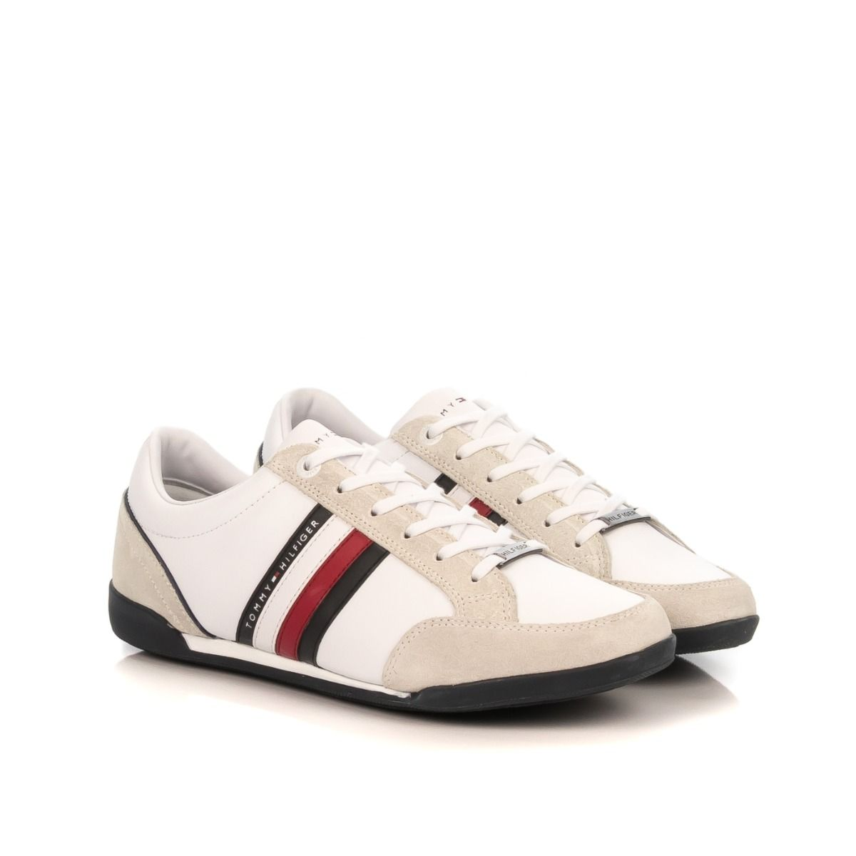 Sneakers uomo|TOMMY HILFIGER 2046 100 similpelle bianco|Shop