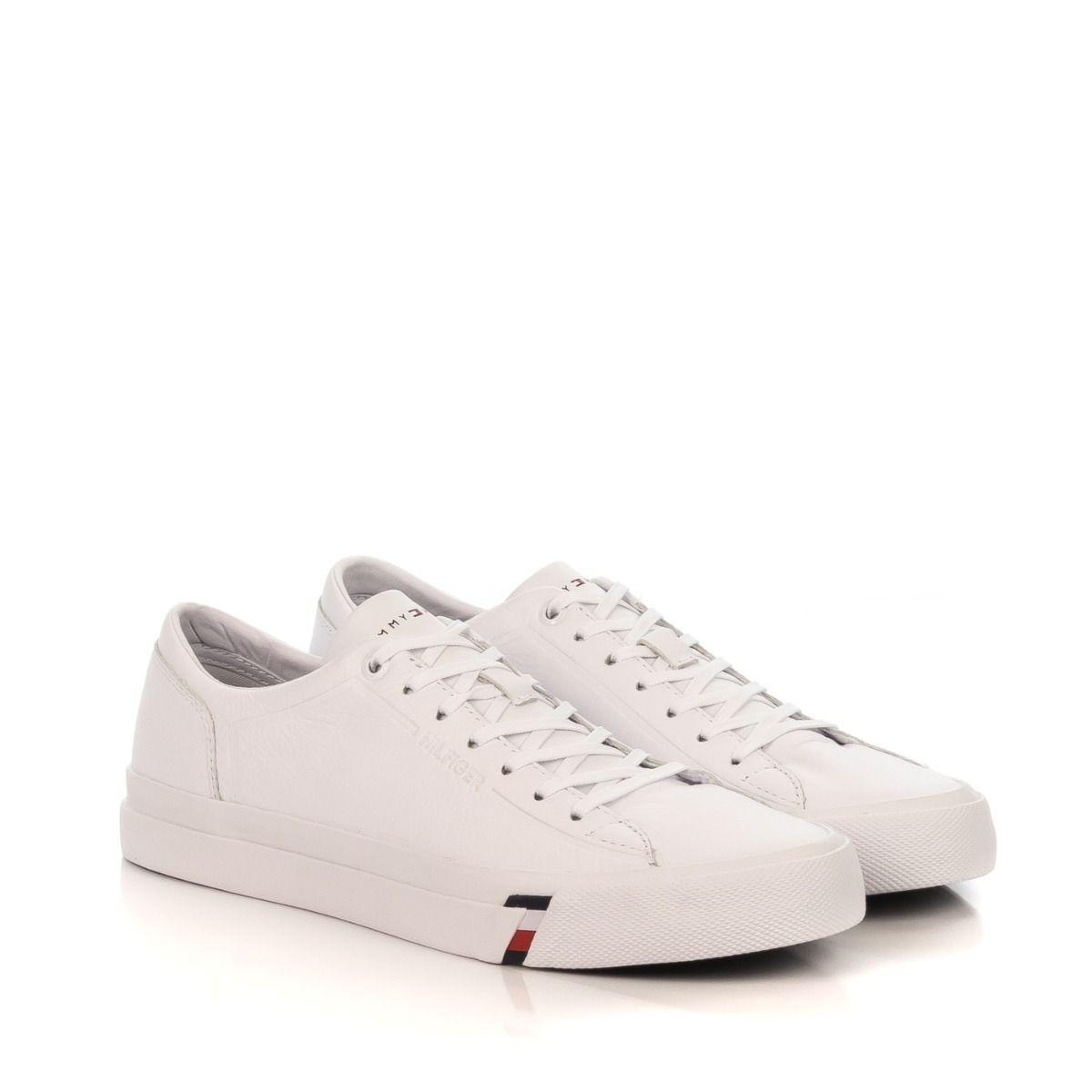 Sneakers uomo|TOMMY HILFIGER 2089 100 DINO in pelle bianca