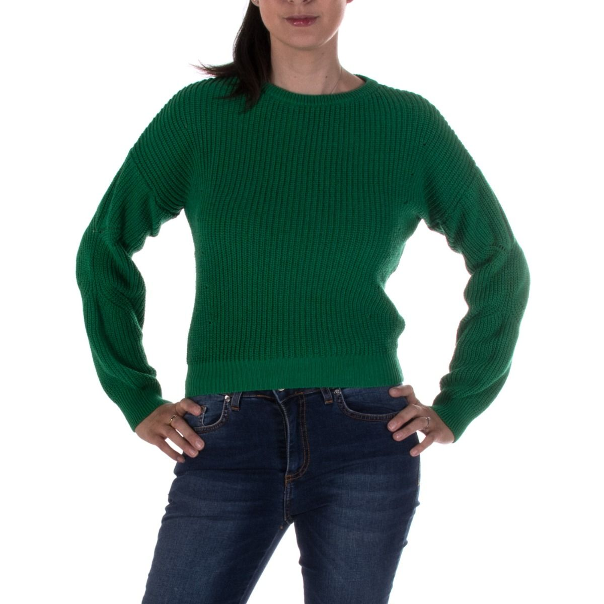 buy popular 039f1 3c9a3 MISS MISS MAGLIONE DONNA 2372 VERDE