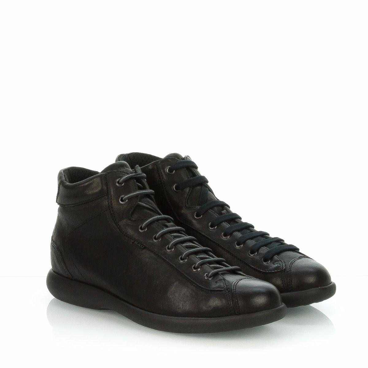 982ade87c3 Sneakers alta da uomo FRAU 27T2 in pelle nero,  Spedizione gratuita ...