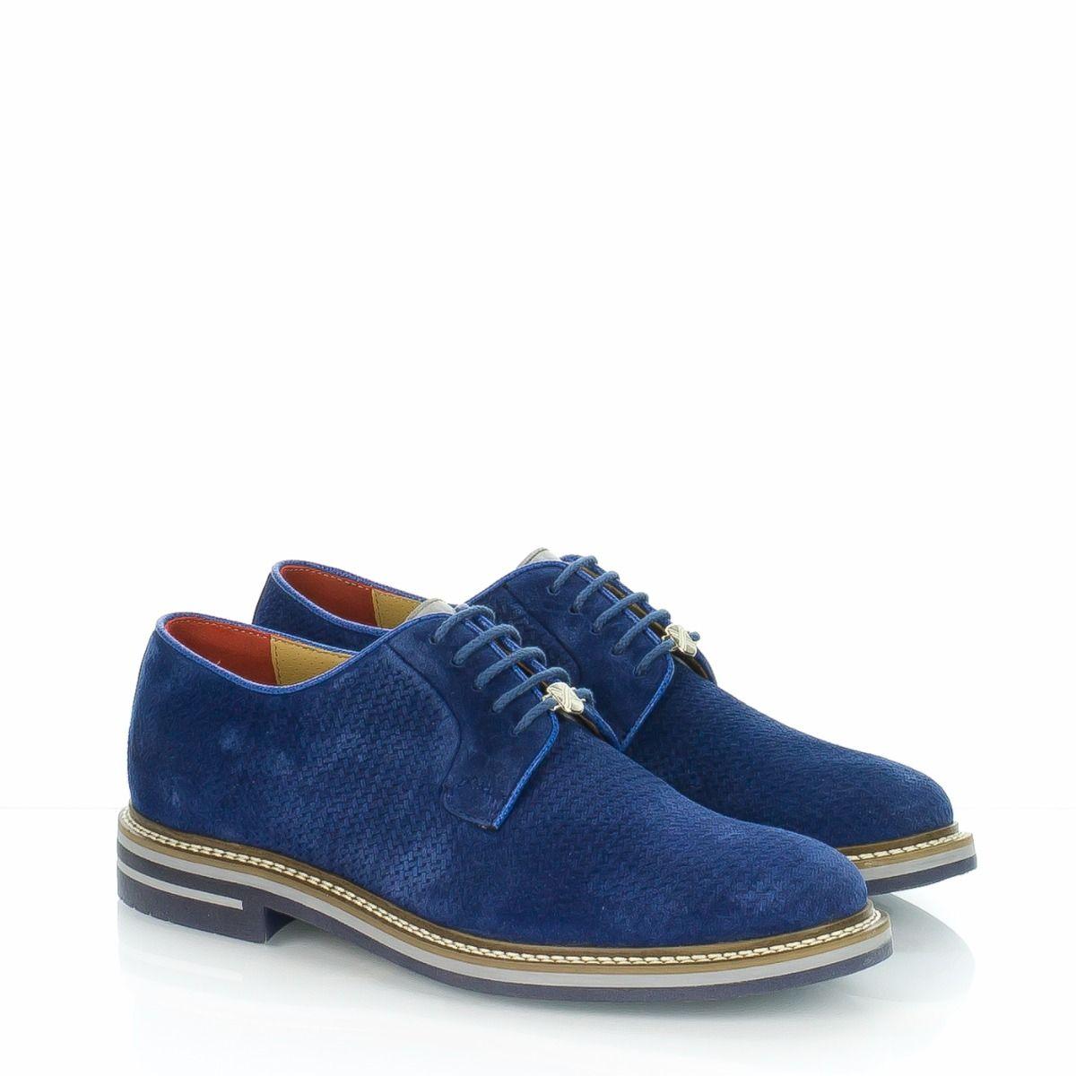 Scarpe stringate blu da uomo