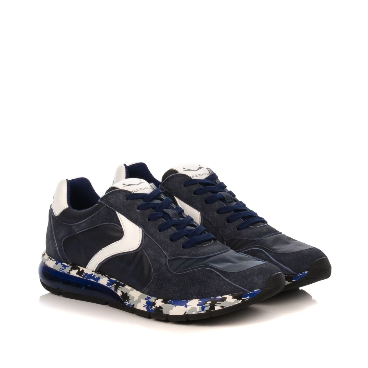 sports shoes 09775 4fd07 VOILE BLANCHE SNEAKERS UOMO 346503-1C55 BLU