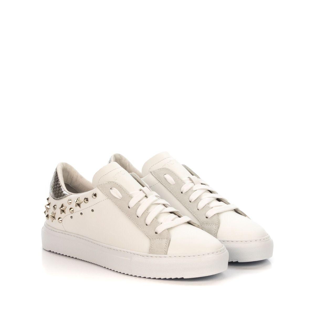 STOKTON 356D sneakers donna borchie argento Spedizione