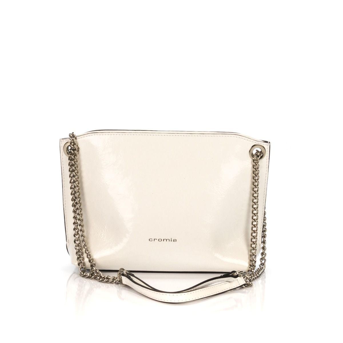 1fd2a7ab4e Borsa a spalla donna CROMIA 3760NK CORY in vernice bianca |Spedizione  gratuita|Shop online|Shoe Center