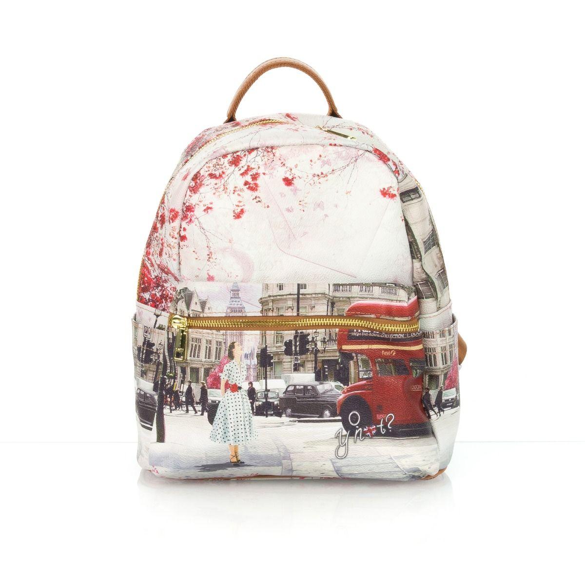 74cab23ce4 Zaino donna Y-NOT 380 LONDRA stampa cuoio  Spedizione gratuita su ordini  superiori a € 79,00 Shop online Shoe Center