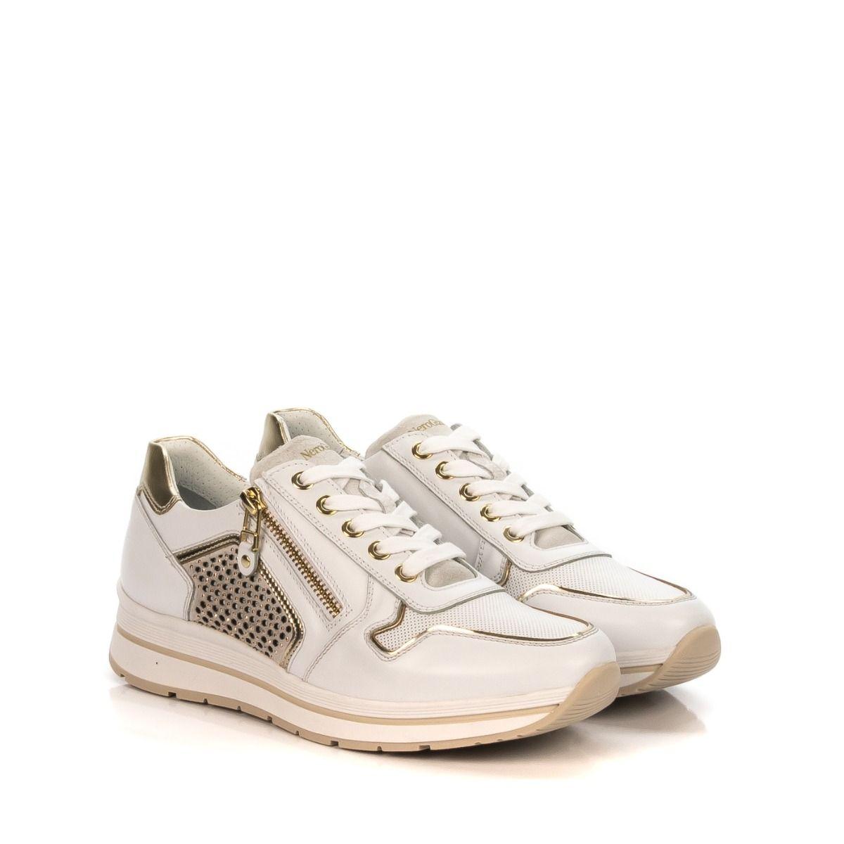 NERO GIARDINI Shoe bianco online in e Center Spedizione 707 donna Sneakers 5241D Shop da oro pelle gratuita ECqwtB