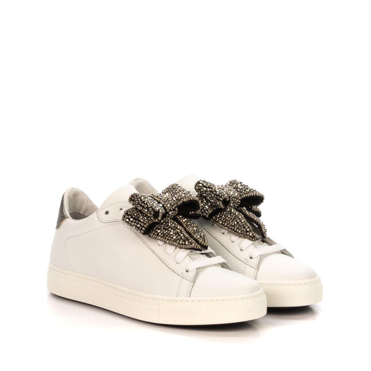 873db322cb STOKTON 671D|sneakers donna|fiocco|pelle|bianco|Spedizione gratuita ...