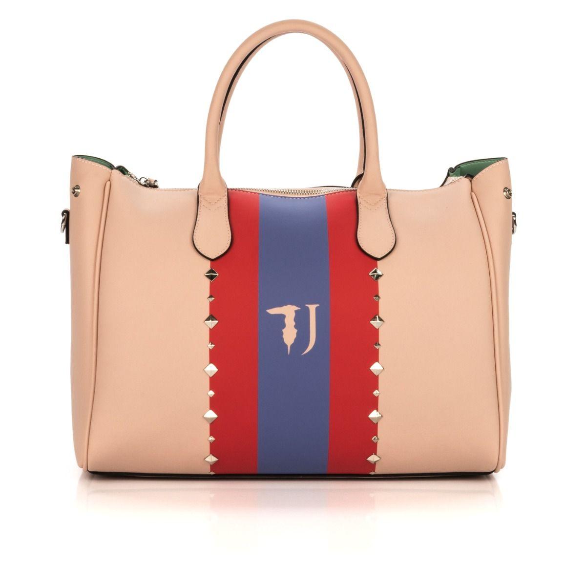 0a7b16e678 Borsa a mano donna TRUSSARDI JEANS 75B00173999-P010 similpelle rosa borchie  |Spedizione gratuita|Shop online|Shoe Center