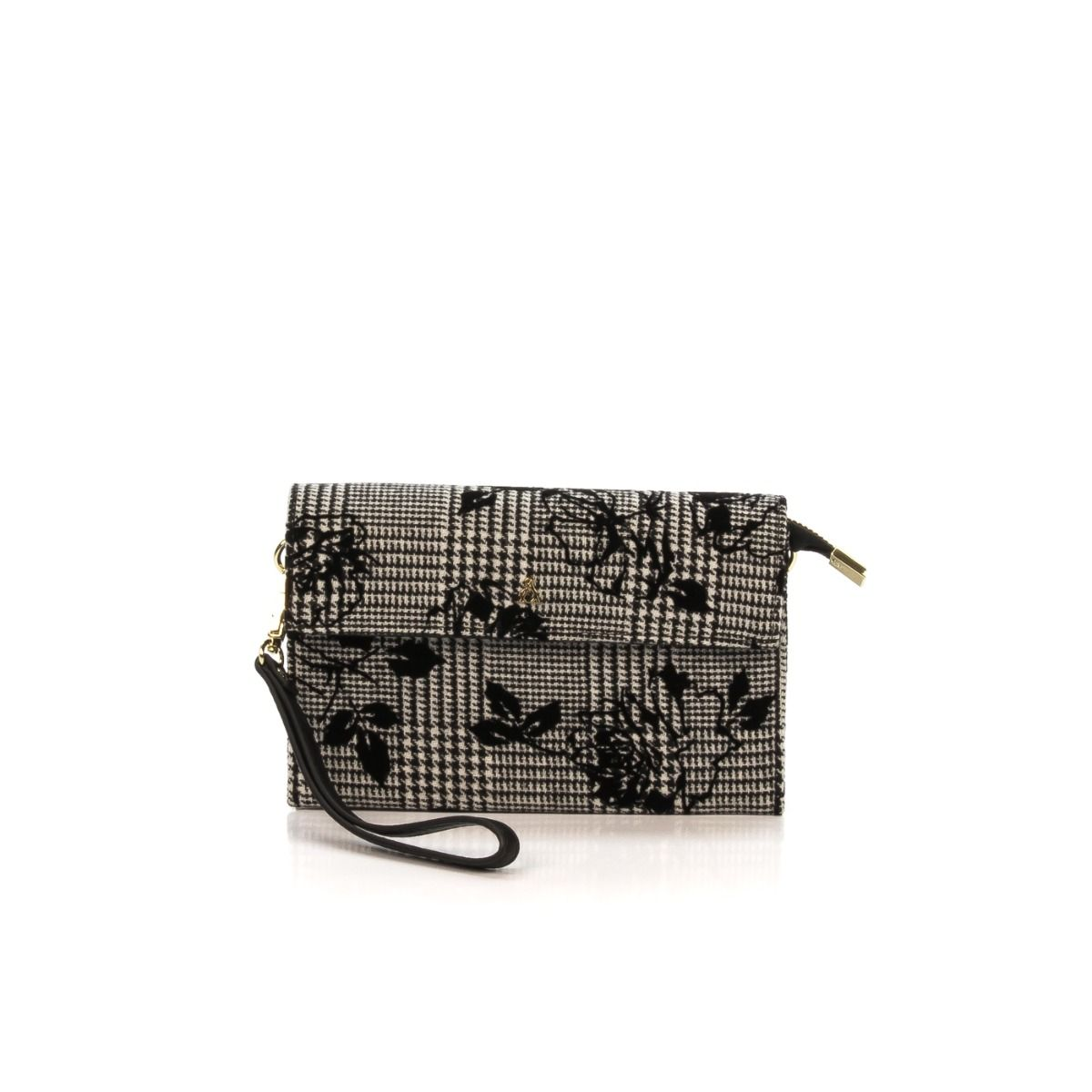 b371477642 Pochette donna|PASH BAG BY L'ATELIER DU SAC 8348 LE VIE EN ROSE tessuto  nero fantasia|Shop online|Shoe Center