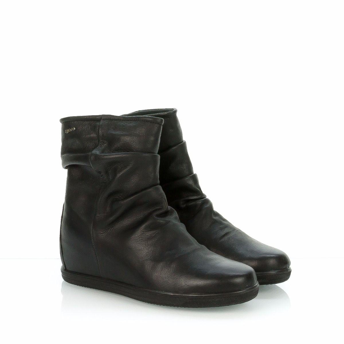 IGI&CO stivaletto donna zeppa 8785|pelle nero|arricciato