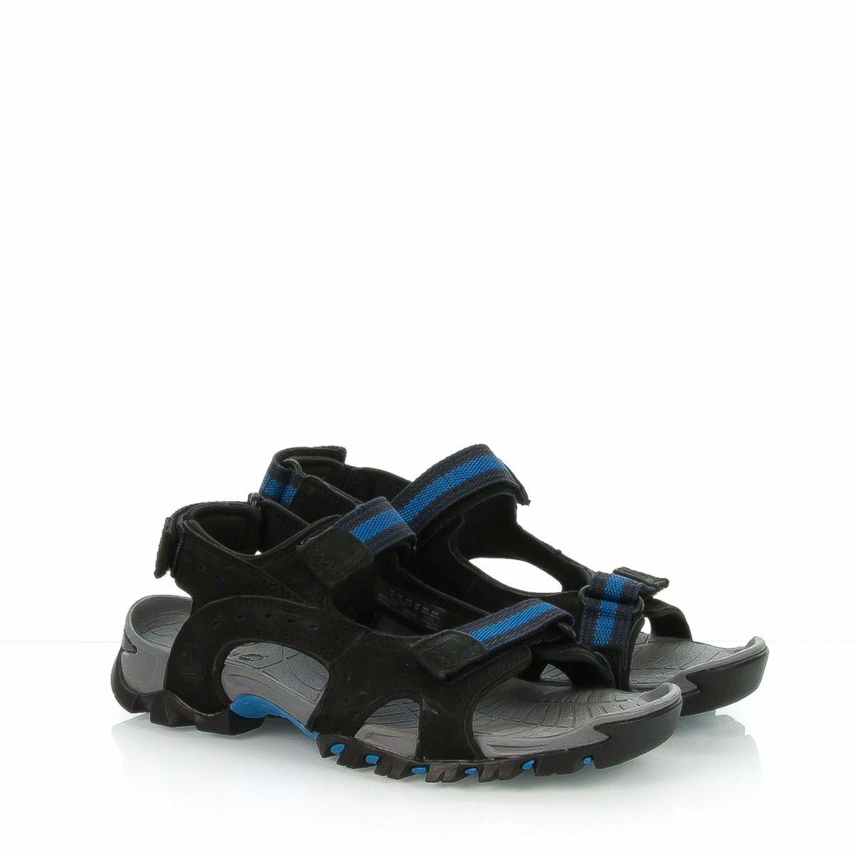E Timberland Nero Tessuto Uomo Sandalo A161q Camoscio Ybg67yvf