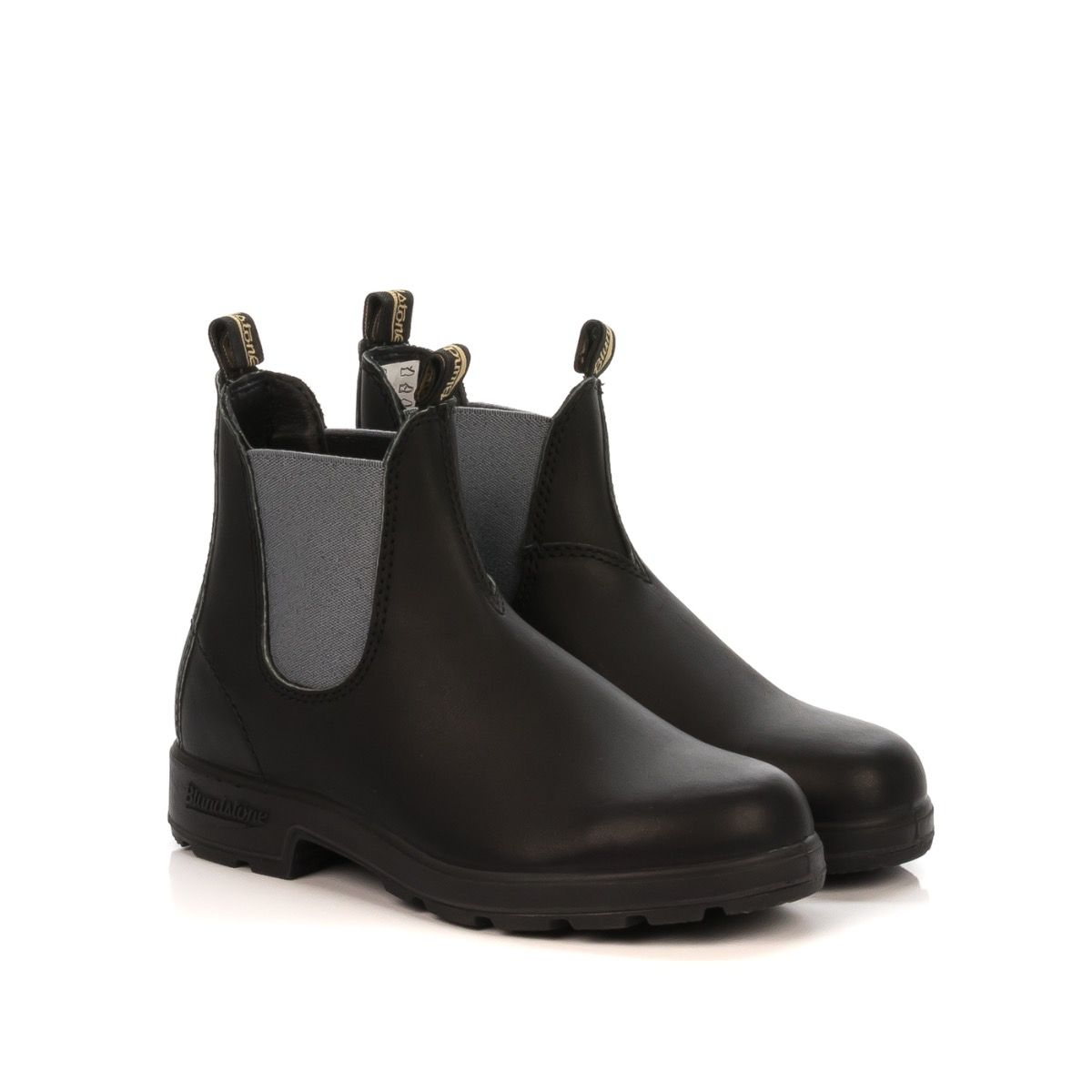 separation shoes 0caa1 a1a9d BLUNDSTONE STIVALETTO BEATLES DONNA BCCAL0152-577 PELLE NERO ELASTICO GRIGIO