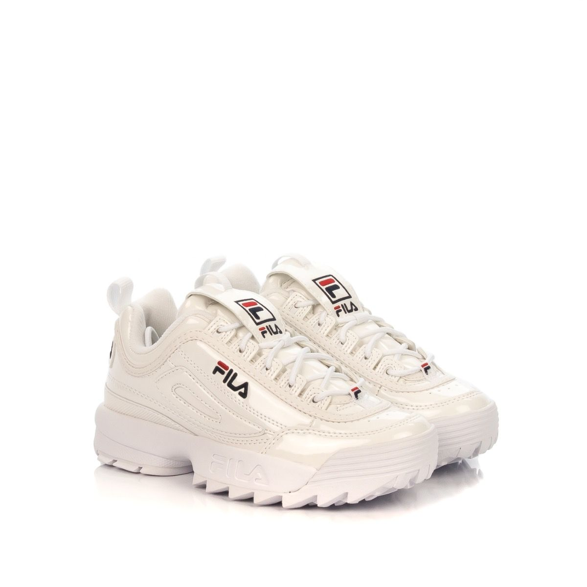 FILA DISRUPTOR LOW|sneakers donna|vernice bianco|Shoe Center ...