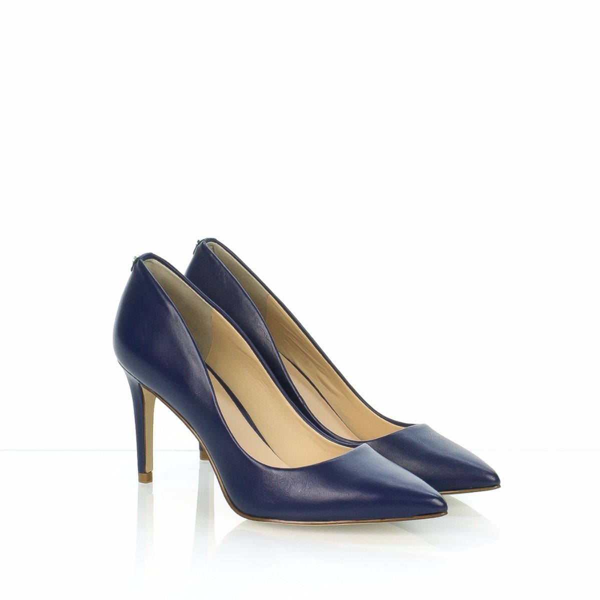 Decollete Donna Guess In Pelle Blu Zona Treviso