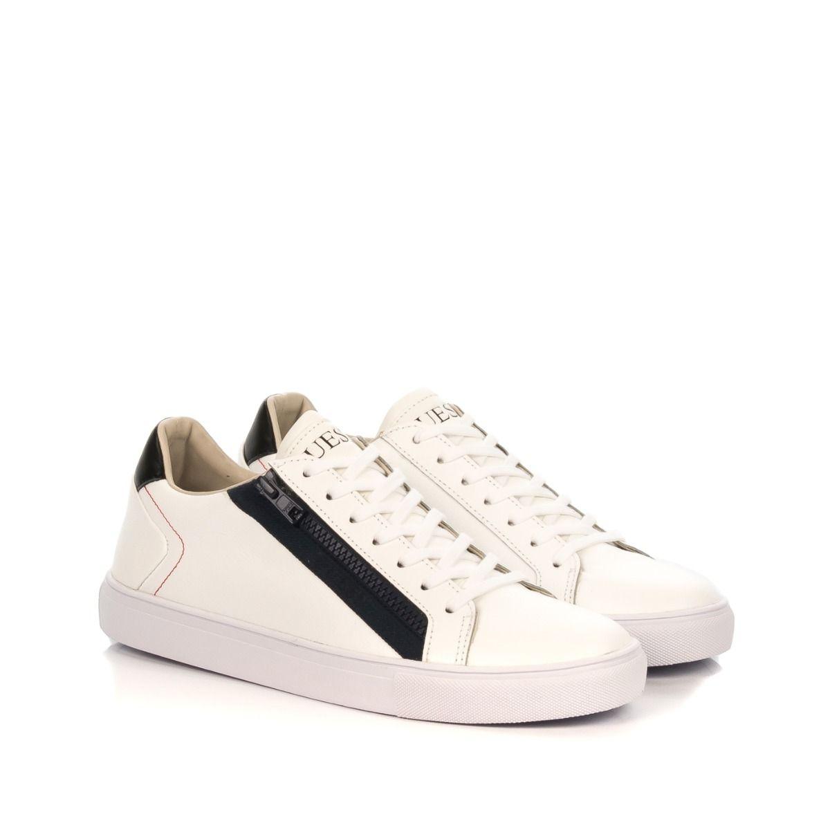 new york 129f0 082ce Sneakers uomo|GUESS FM5LLO-LEA12 similpelle bianco e blu con ...