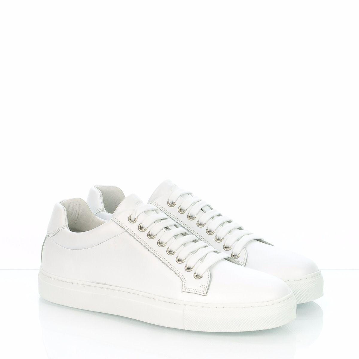 Bianco 29n9 Frau Sneakers Uomo Pelle shdCQtxr