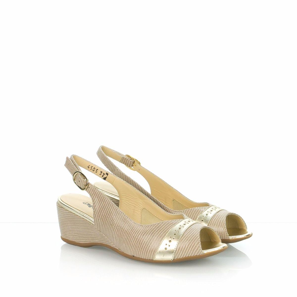 Sandalo Stampato Beige G072v Melluso Donna R3A4j5L