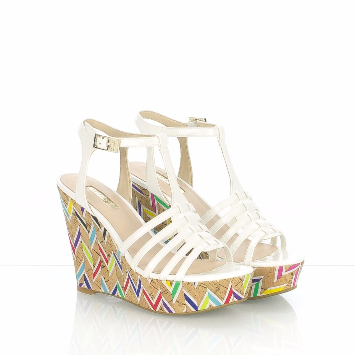 Multicolor Bianco 5aqc4l3rj Guess Zeppa Sandalo Ois2 0Owm8nvNy