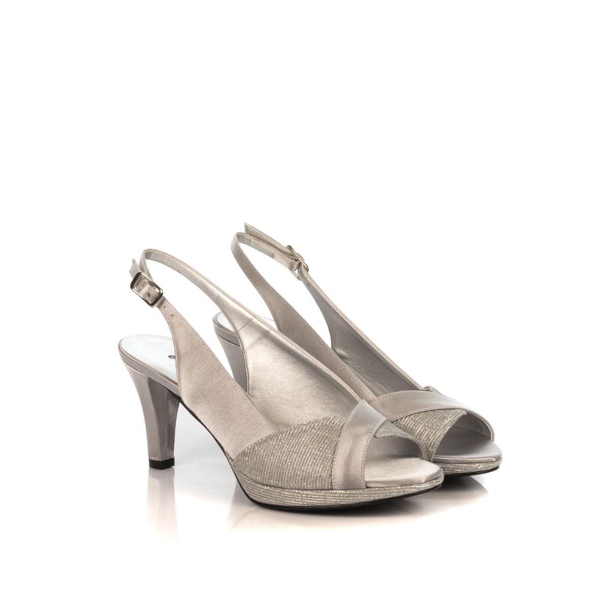 36d9b2e7c4 Sandalo donna|MELLUSO J545N GALASSIA in tessuto argento lamè|Spedizione  gratuita|Shop online|Shoe Center