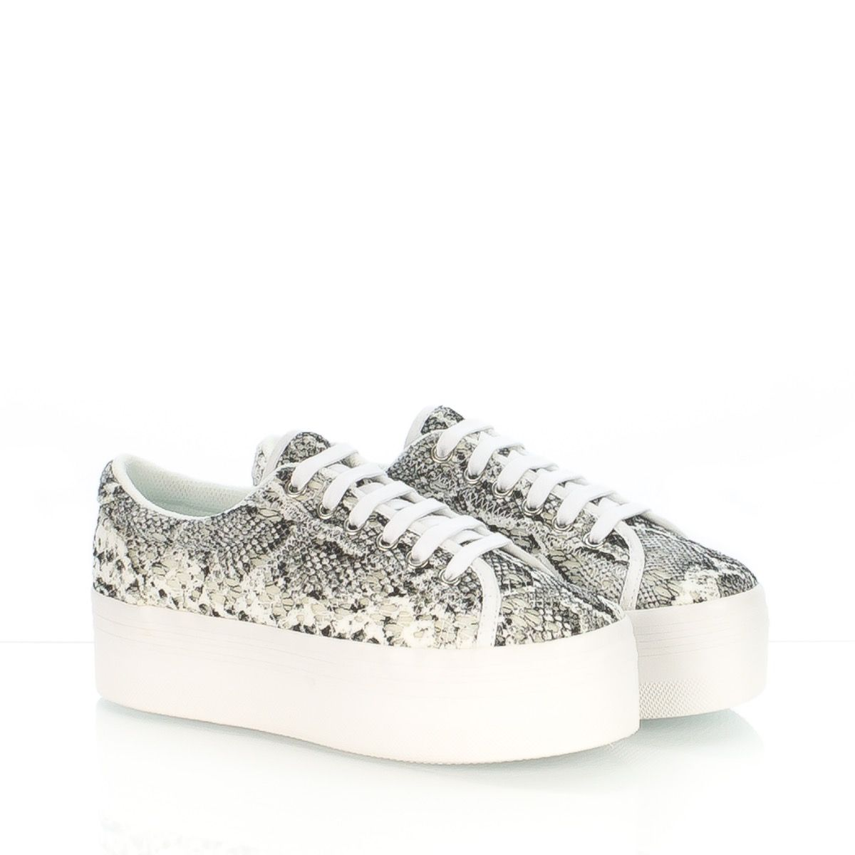 c24e1bf617 JC PLAY JEFFREY CAMPBELL ZOMG LACE SNEAKER DONNA PIZZO BIANCO GRIGIO