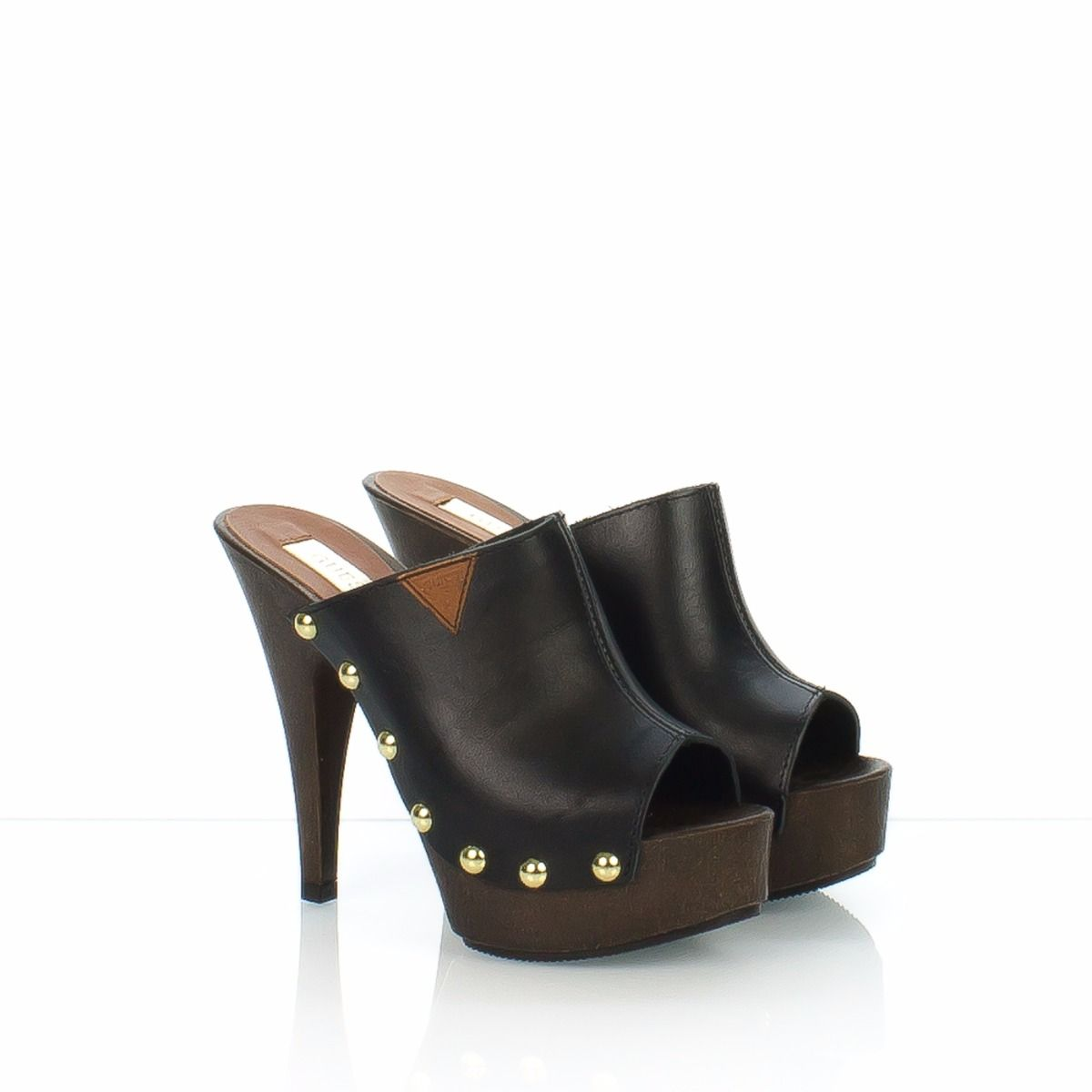 Donna Nero Guess Zoccolo Pelle Klo2 vNnwOm0y8P