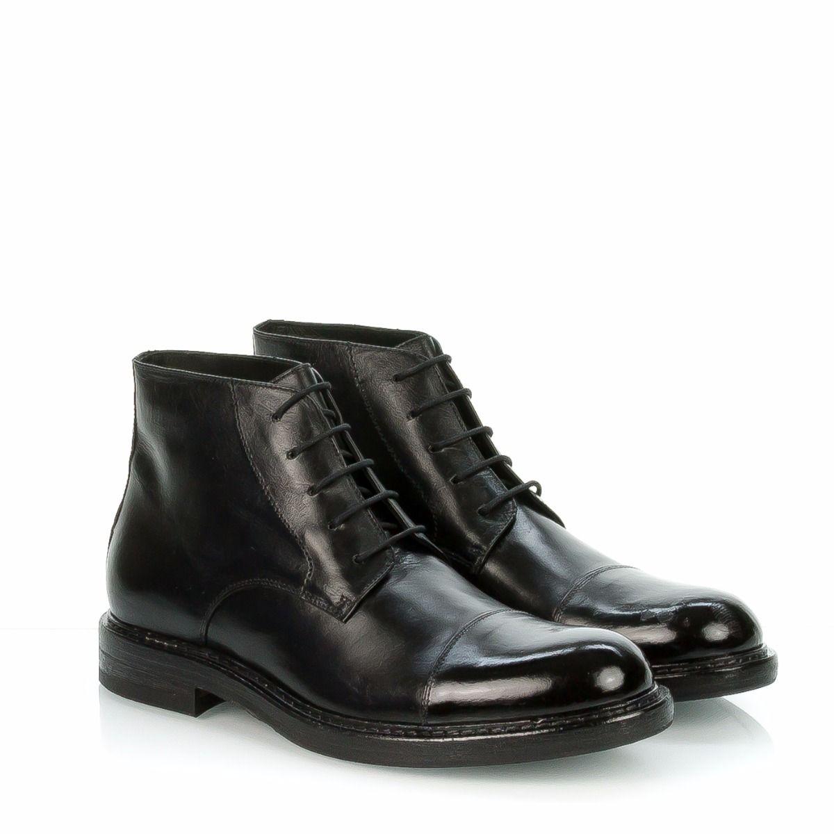 44da3081d3 HUNDRED 100|scarpa stringata alta uomo|M880-09|vitellino nero|pelle ...