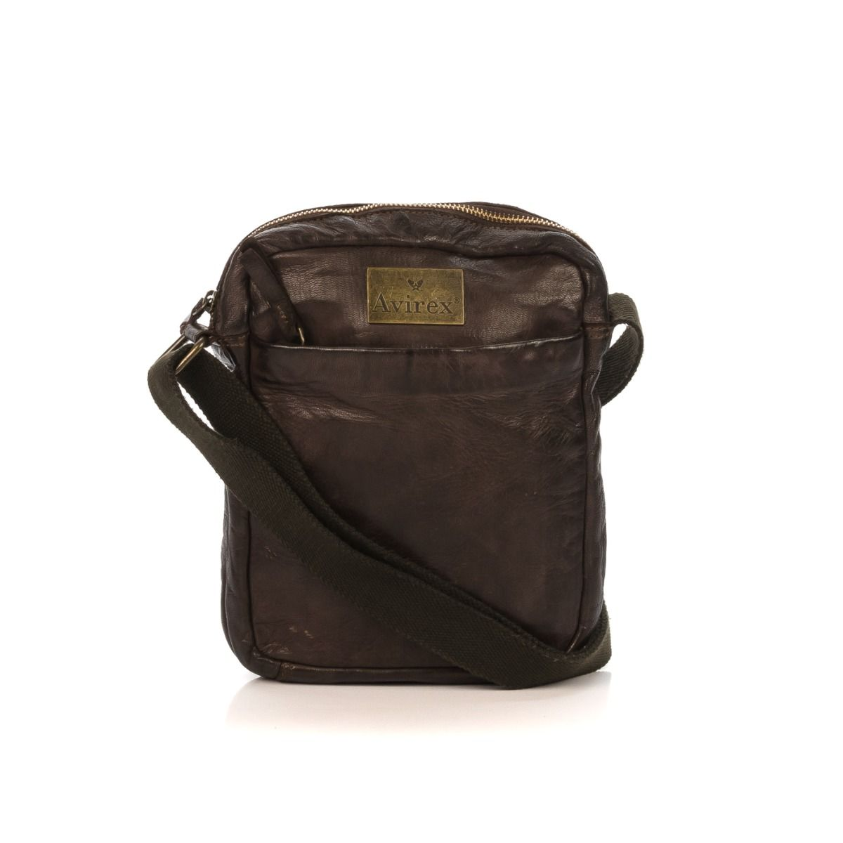 Borsa tracolla uomo in pelle Avirex Mayday MDY02 Brown