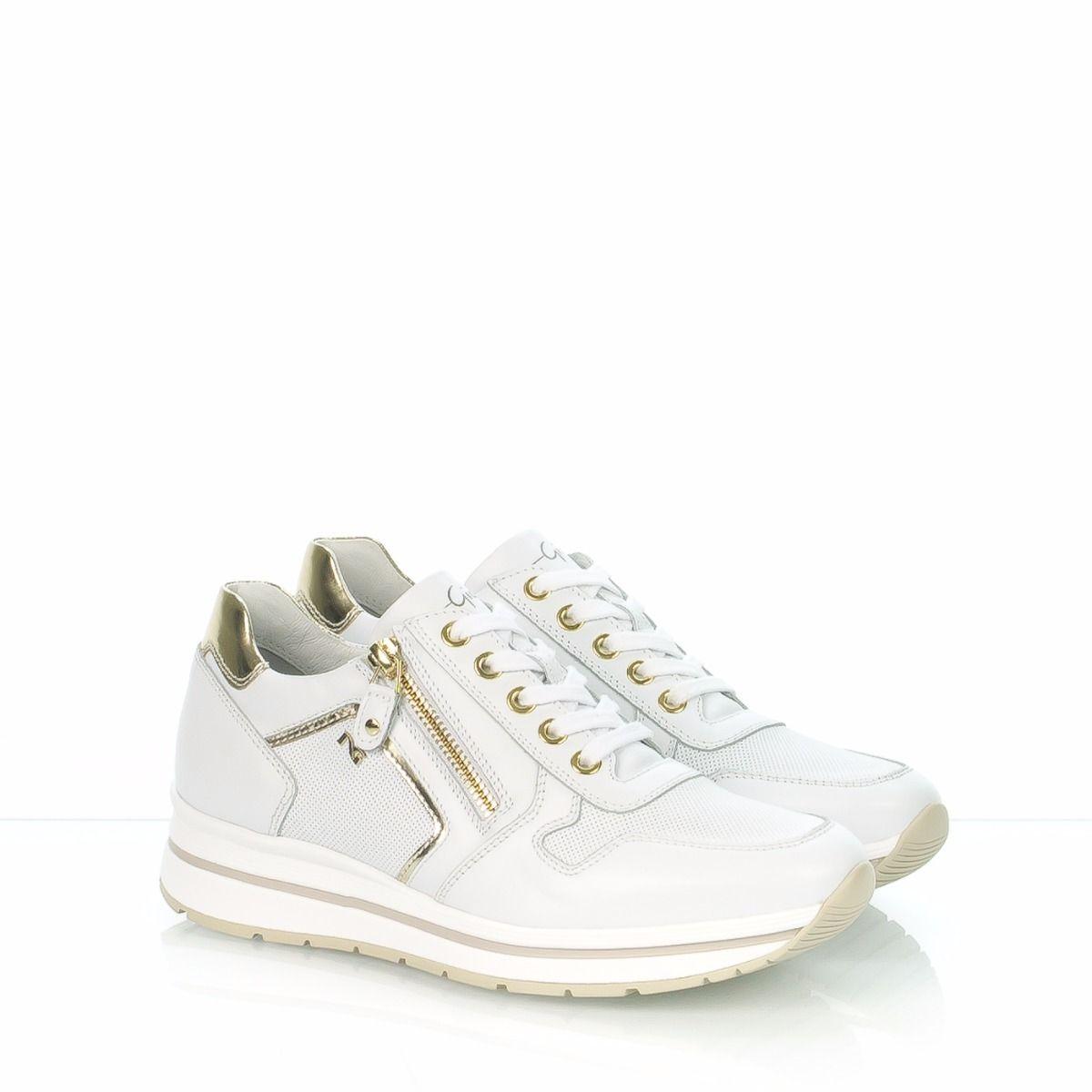 NERO GIARDINI 17232D|sneakers donna|skipper|pelle|bianco|Spedizione  gratuita|Shop online|Shoe Center|