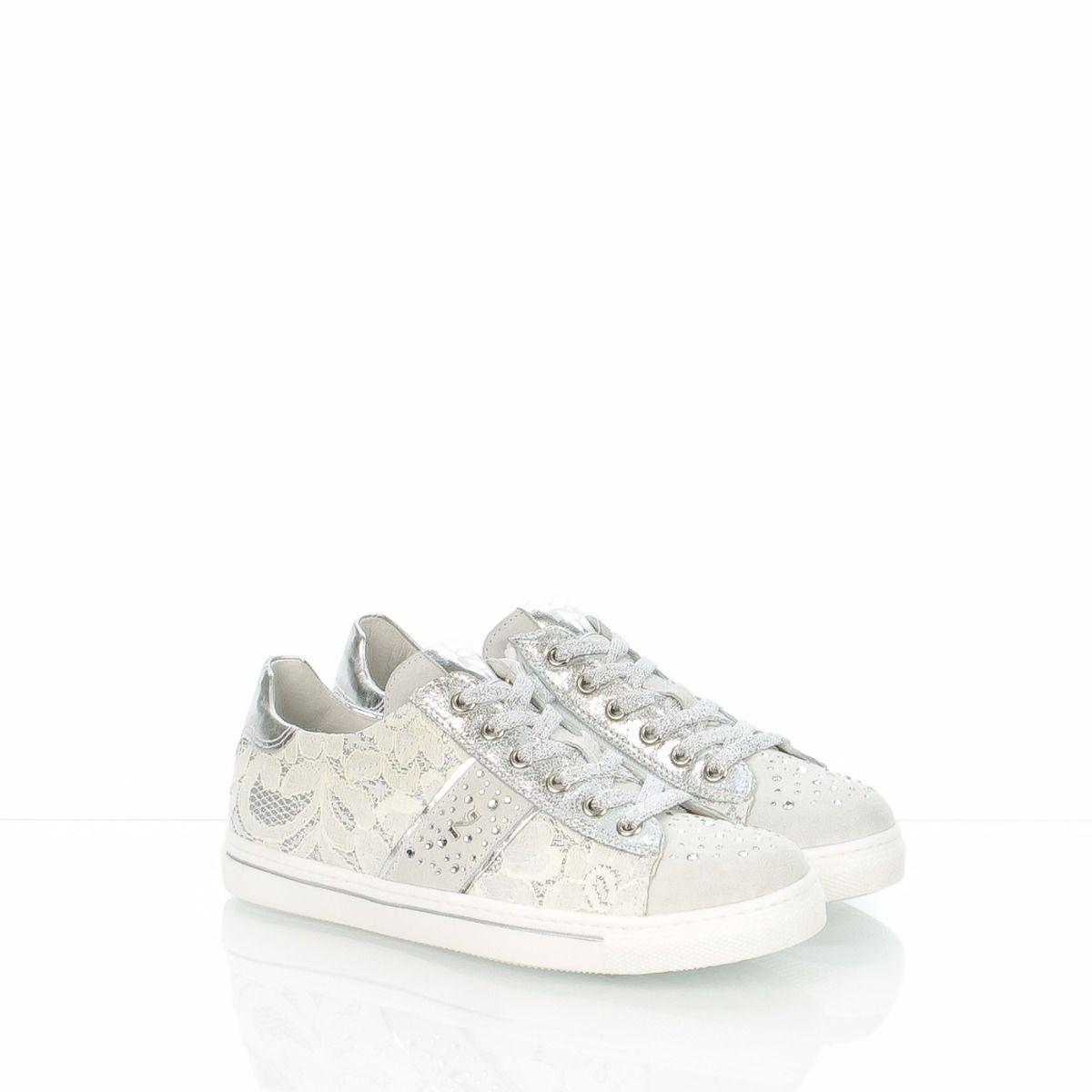 Bambina 32182f pizzo Nero Giardini spedizione Bianco sneakers 7ygfb6