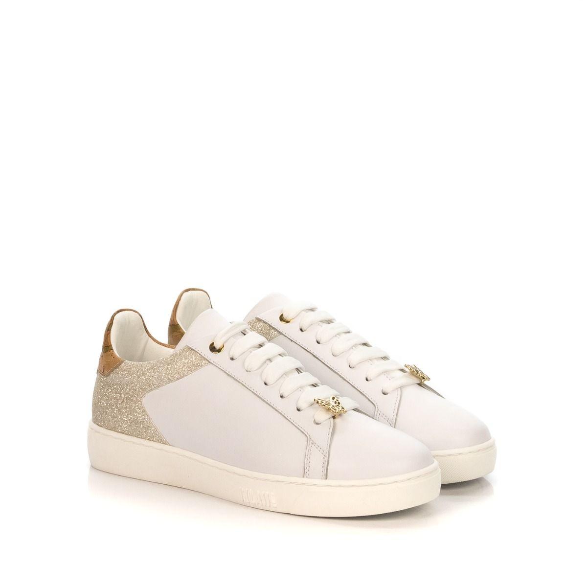 353339d0e1d597 Sneakers donna ALVIERO MARTINI 1 CLASSE P751346F-900 pelle bianca tallone  glitter