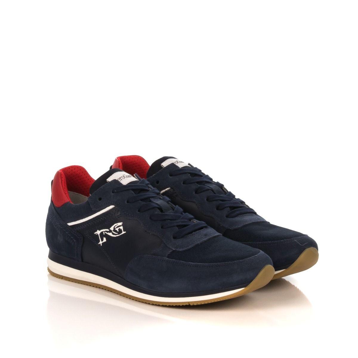 4106025d39ff Sneakers uomo|NERO GIARDINI P900951U-207 blu con tallone rosso|Shop online|Shoe  Center