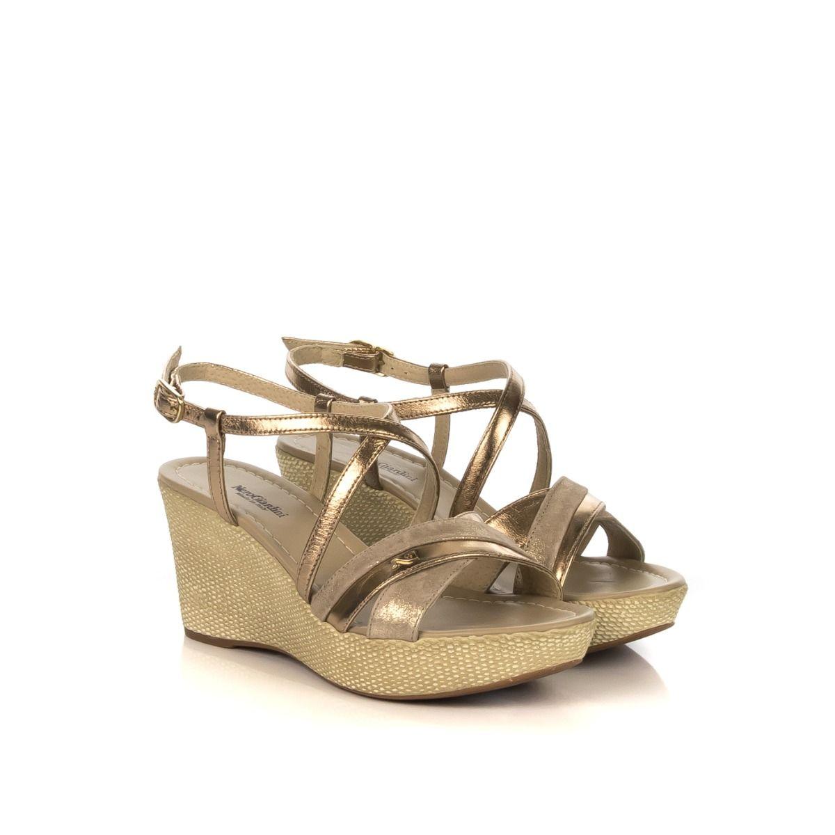Sandalo donna zeppa|NERO GIARDINI P908112D 434 in pelle