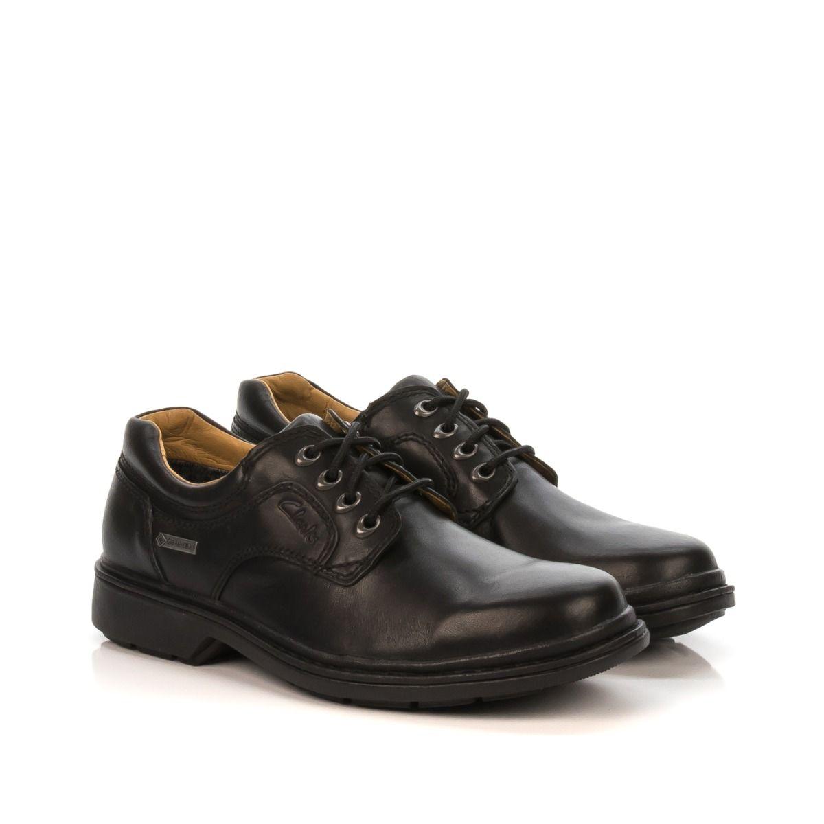 shoe Tex® pelle Gtx Center Lo gore Uomo Nero Clarks scarpa Rockie zTw7R7
