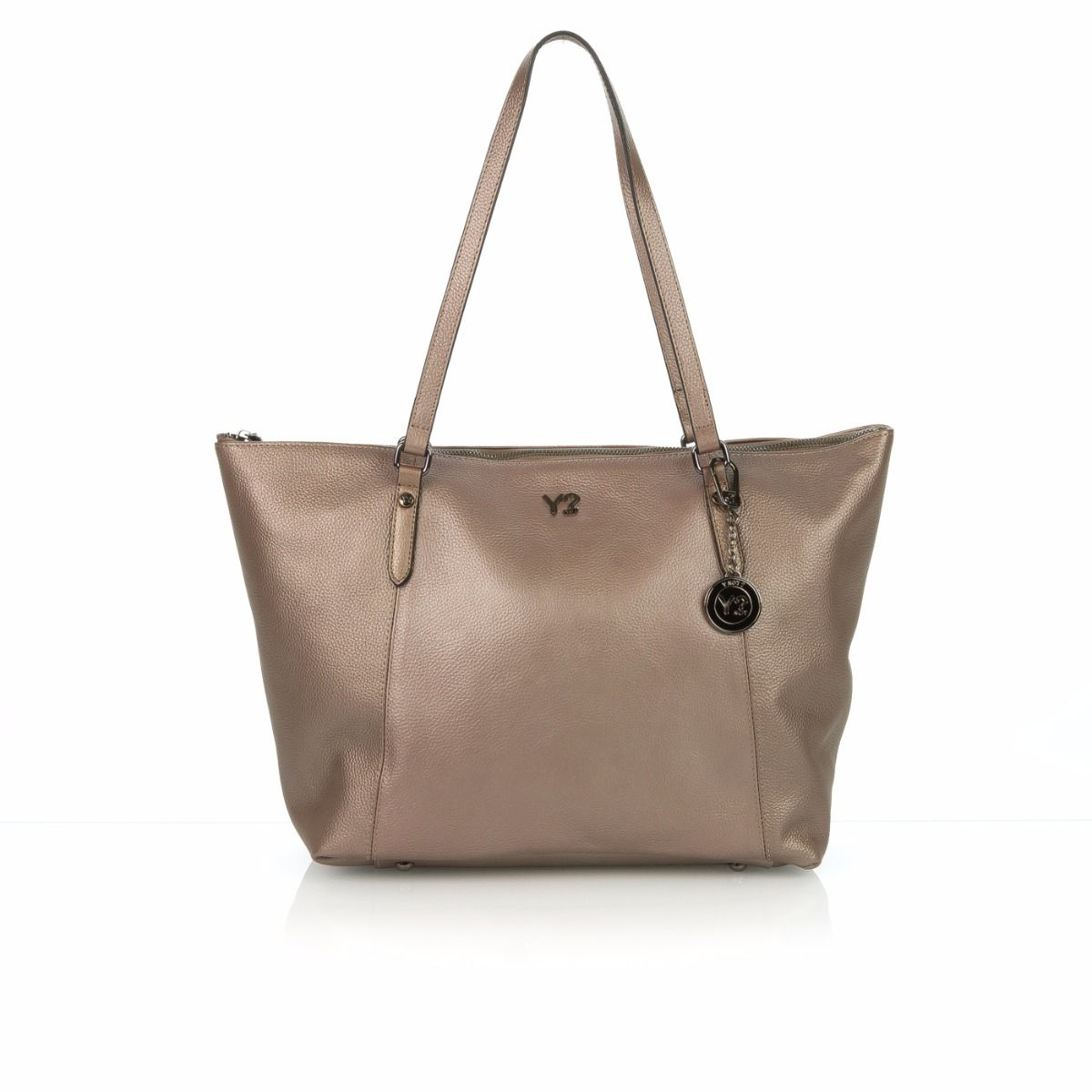 7d9cec03a3 Y-NOT SHOPPING BAG DONNA SL04 PELLE ROSA METALLIZZATO