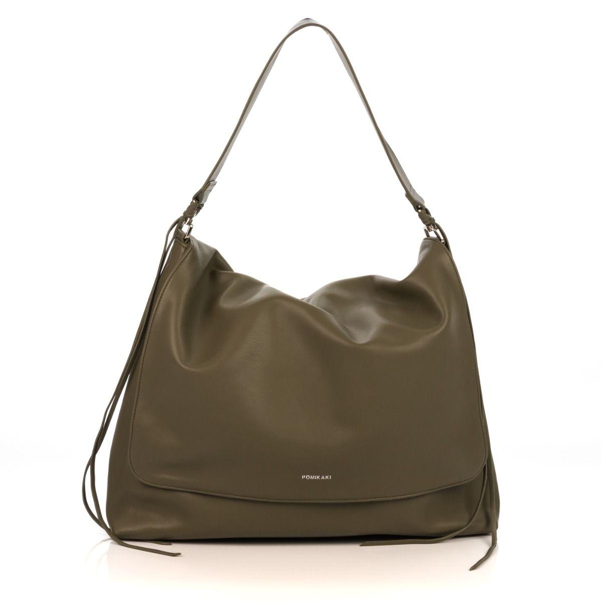 f7f71257baa32e Shopping bag donna POMIKAKI VI12 VIRGINIA in similpelle verde Shop online Shoe  Center