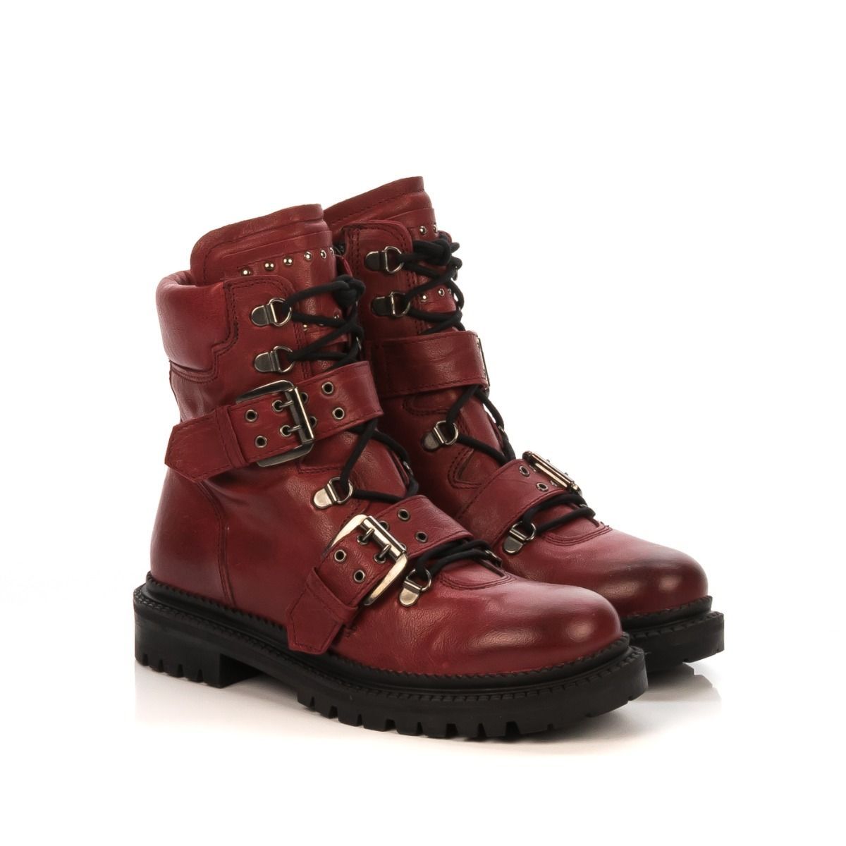 piuttosto carino intera collezione le migliori scarpe Anfibio donna|FABBRICA DEI COLLI WILD207 rosso due fibbie|Shop ...