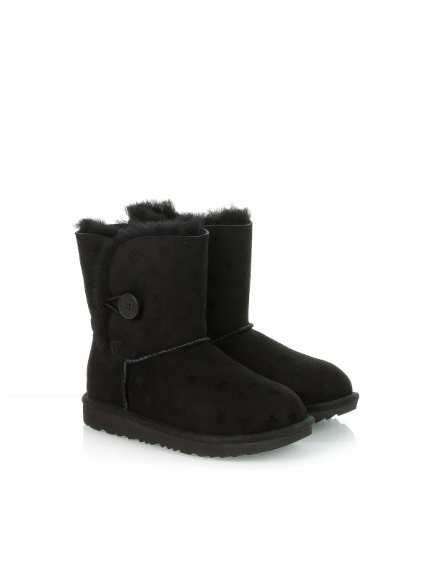 UGG STIVALETTO BAMBINA 1018538 BAILEY BUTTON STARS NERO