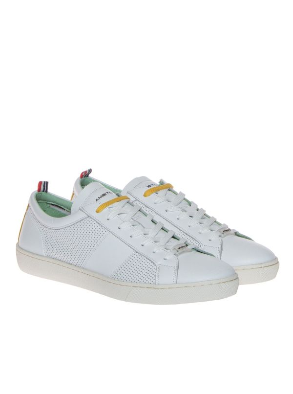 AMBITIOUS 10325-4838AM SNEAKERS UOMO PELLE BIANCA
