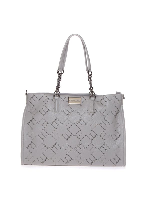 ERMANNO SCERVINO SHOPPING BAG 12401078 INGRID GRIGIO